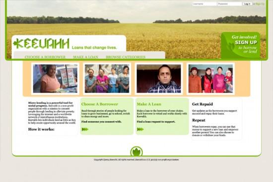 Keevahh homepage
