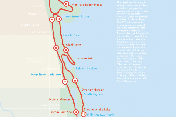 Lakeshore Marathon Map Redesign