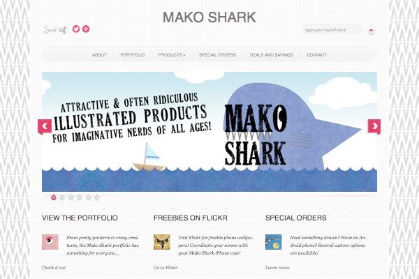 Mako Shark Website 1