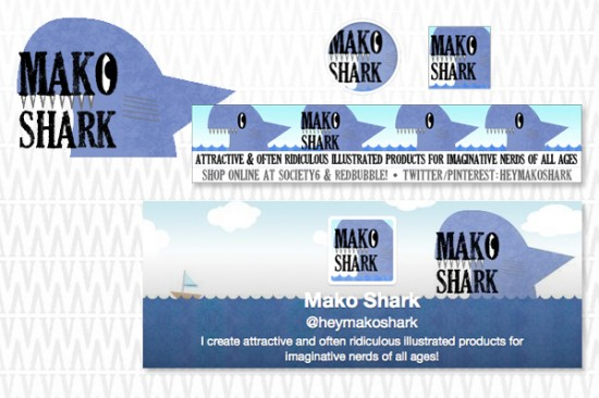 Mako Shark Social Media Various