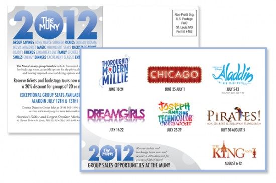 Muny 2012 Group Sales Postcard