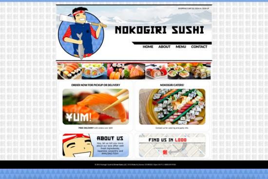 Nokogiri Sushi homepage