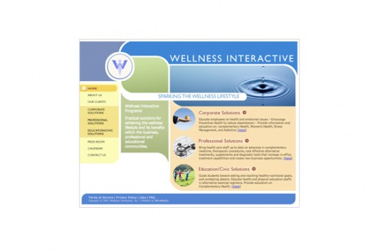Wellness Interactive Site Design